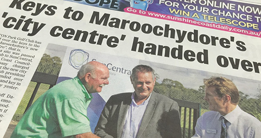 Keys to Maroochydore's 'city centre' handed over
